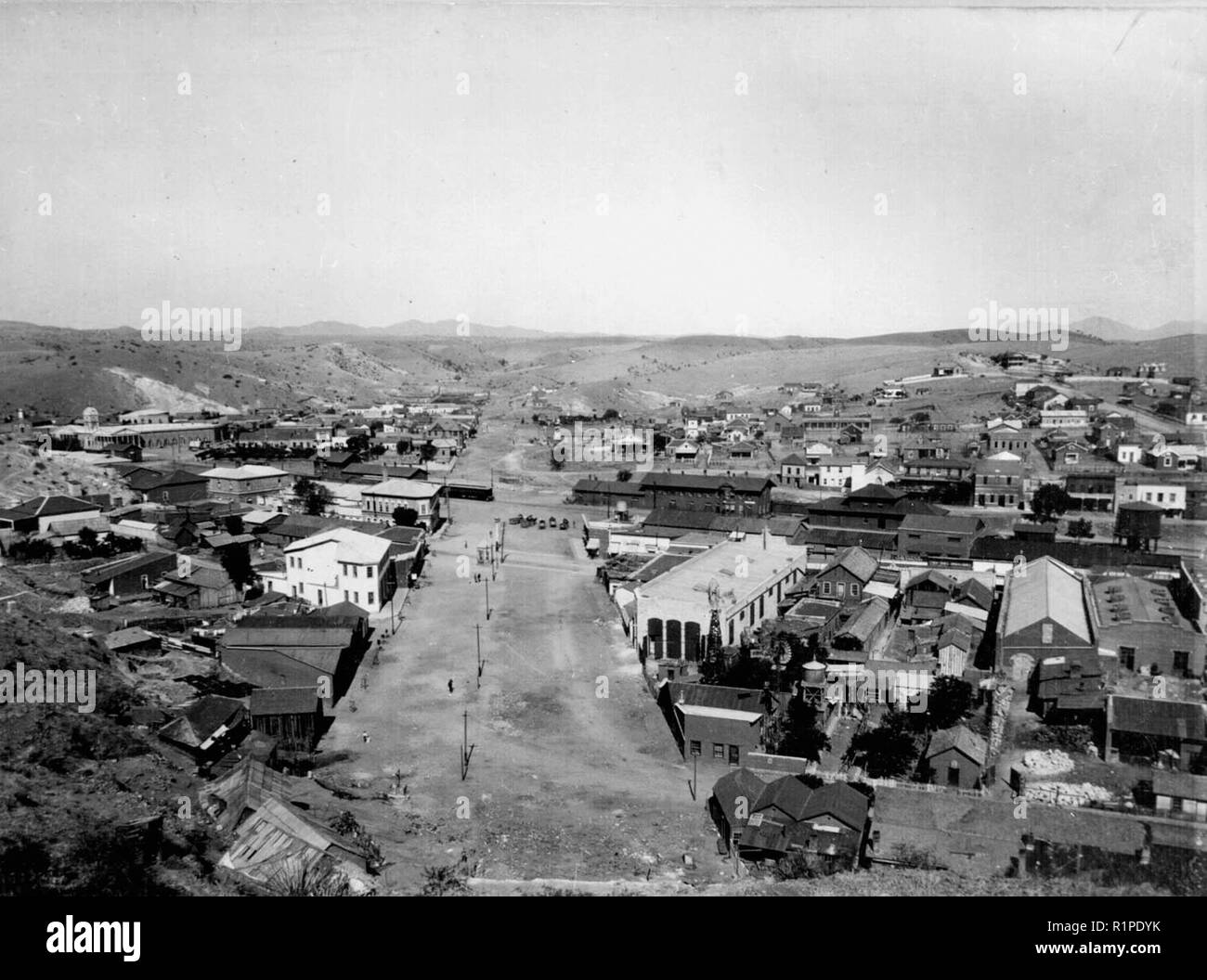Ambos Nogales in 1899. Battles occurred here several times during the revolution Stock Photo