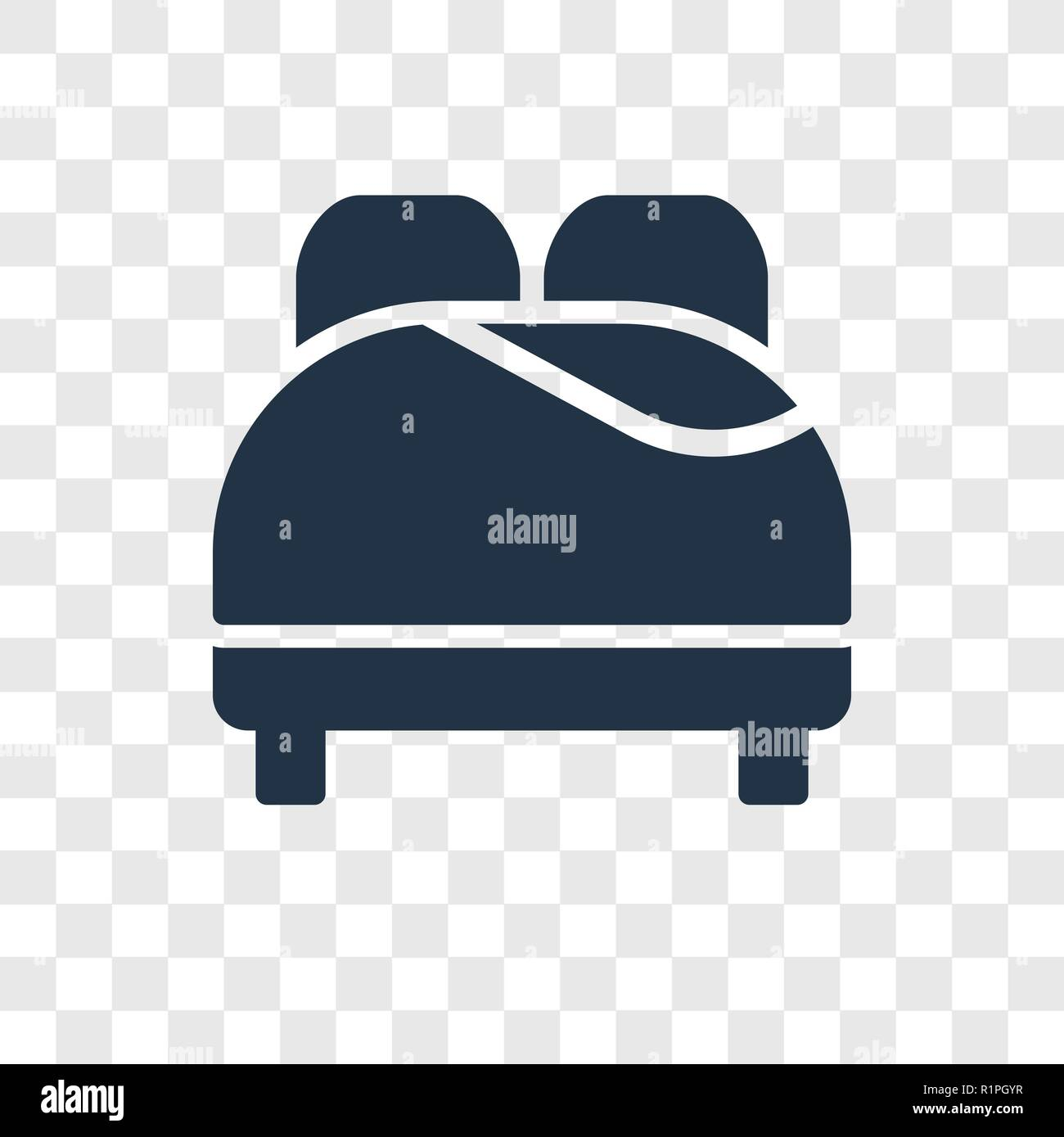 Bed Vector Icon Isolated On Transparent Background Bed Transparency