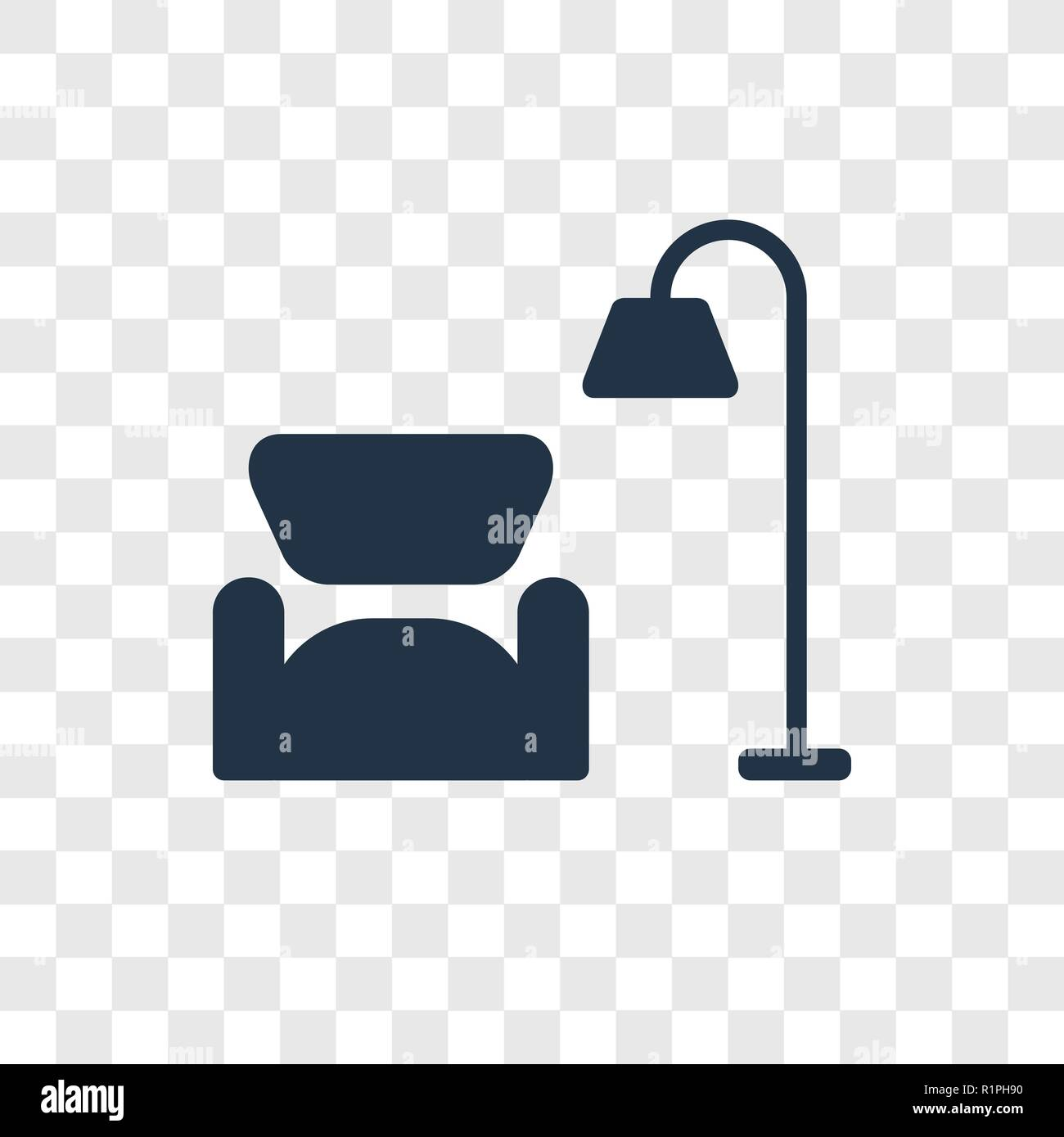 Living Room Vector Icon Isolated On Transparent Background