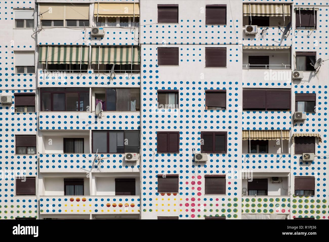 Albania, Durres, public housing - Stock Image