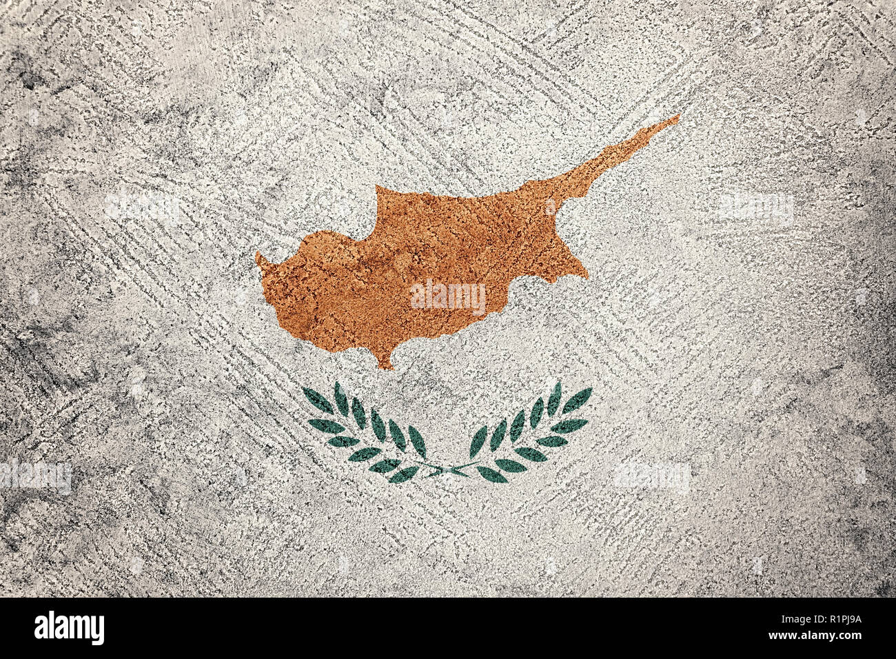 Grunge Cyprus flag. Cyprus flag with grunge texture. - Stock Image