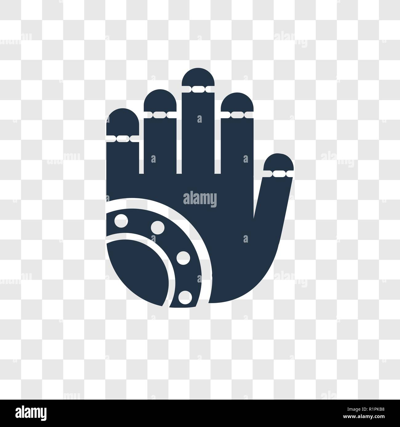 Henna Painted Hand Vector Icon Isolated On Transparent Background
