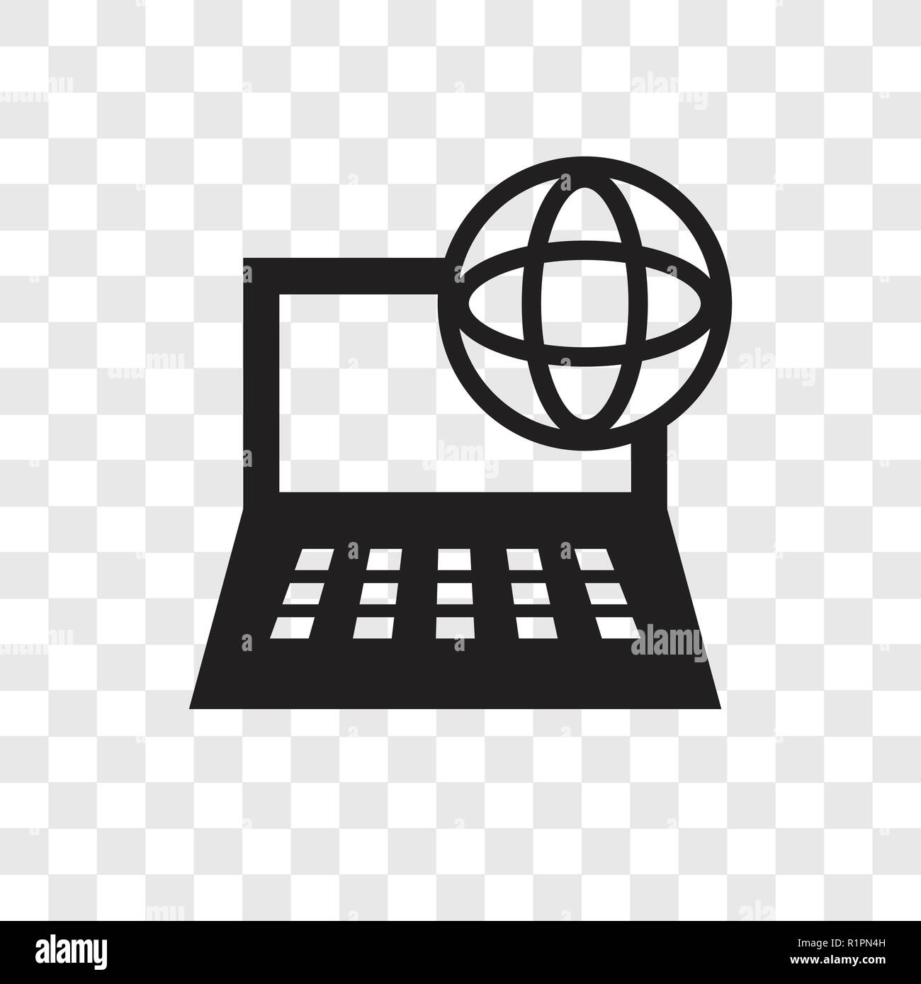 Computer and network vector icon isolated on transparent ...Computer Network Logo