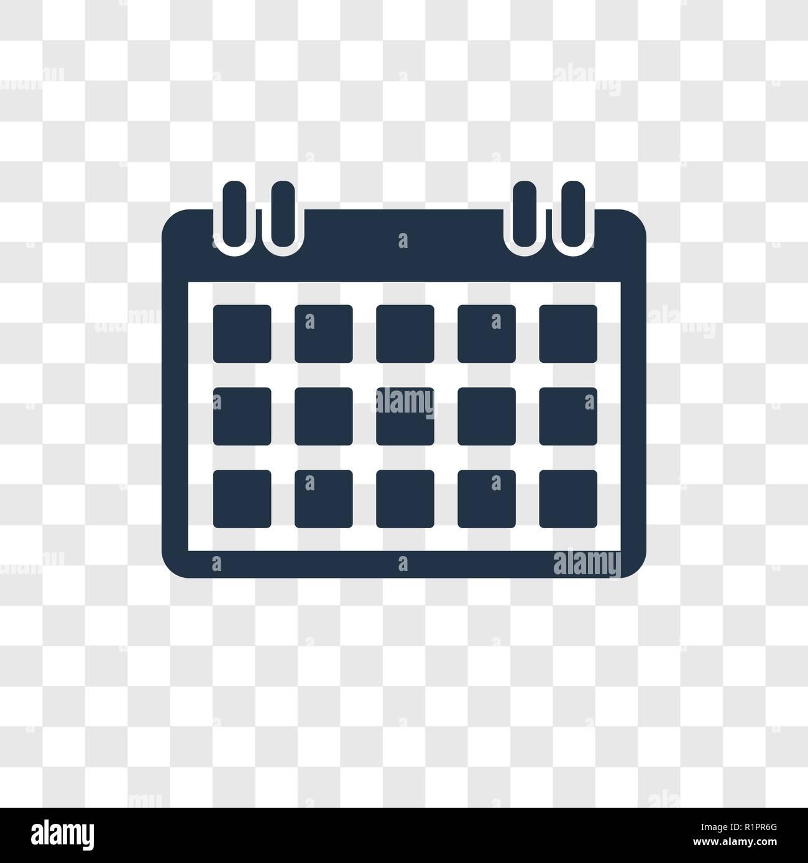 Calendario Vector.Calendar Checked Vector Icon Isolated On Transparent Background