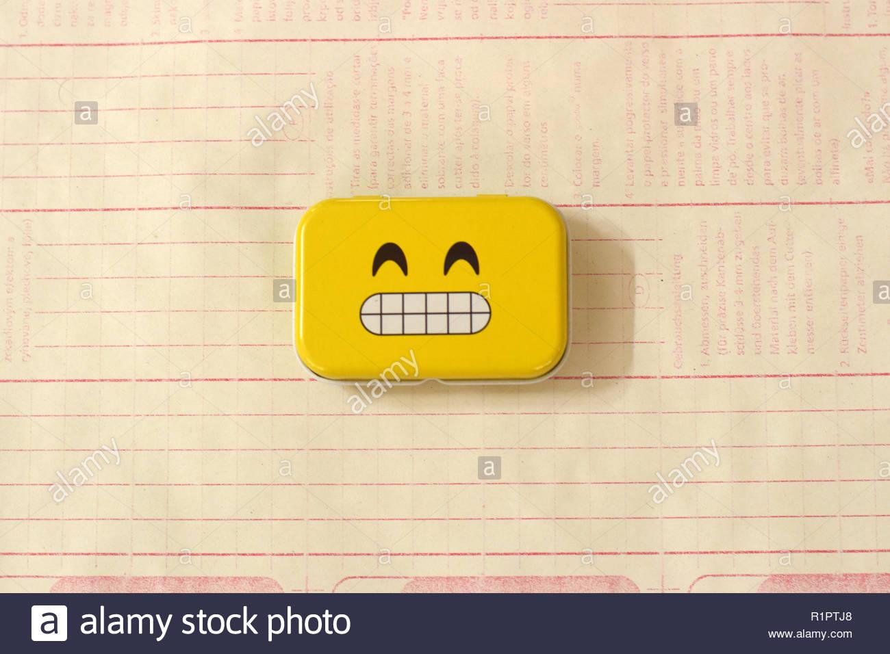 Emoji Metal Tins - Stock Image