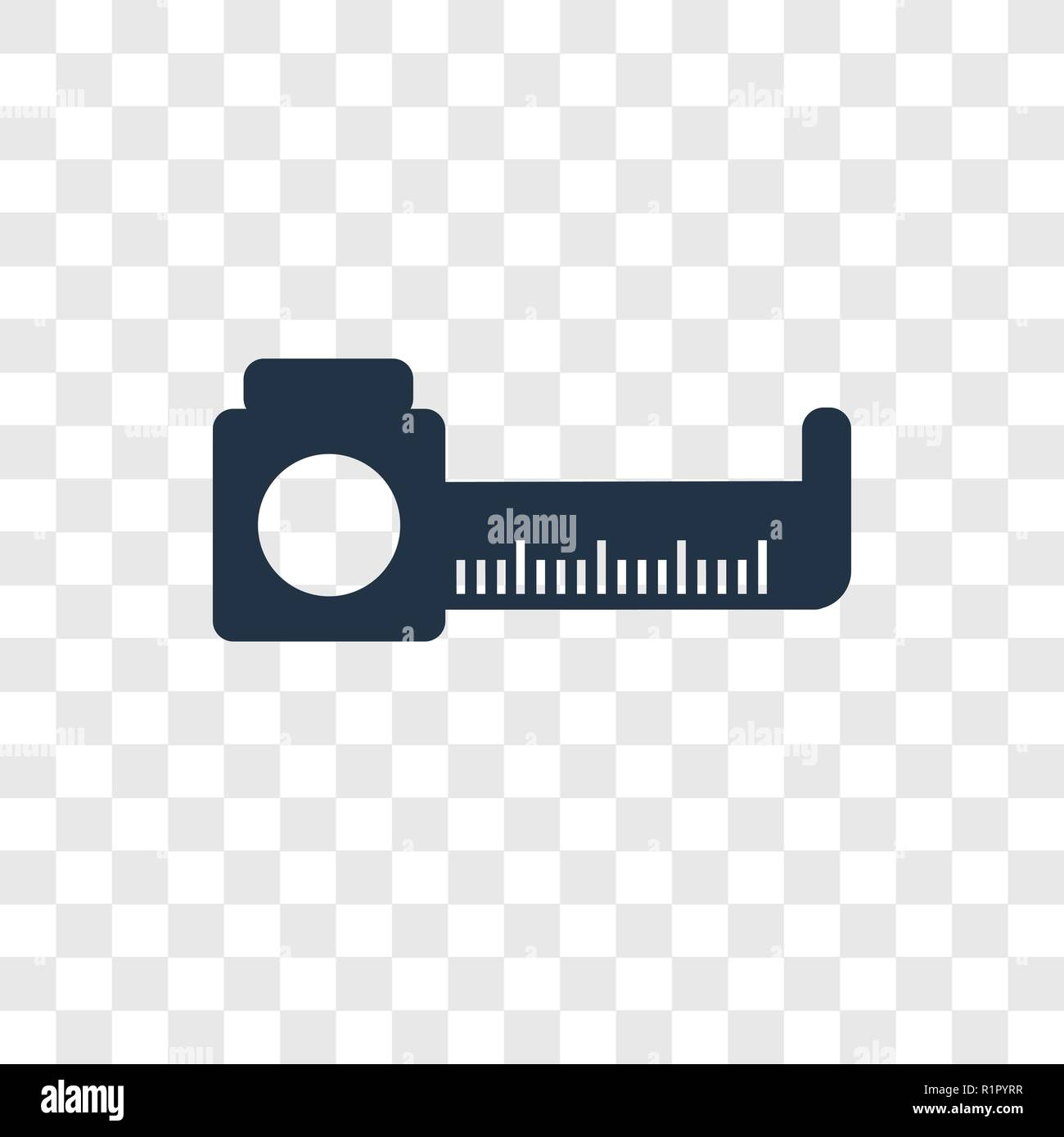 Measure vector icon isolated on transparent background, Measure transparency logo concept - Stock Image