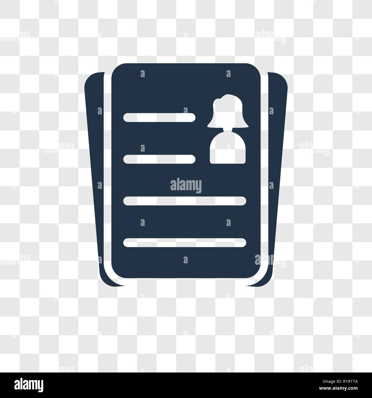 Resume Vector Icon Isolated On Transparent Background Resume