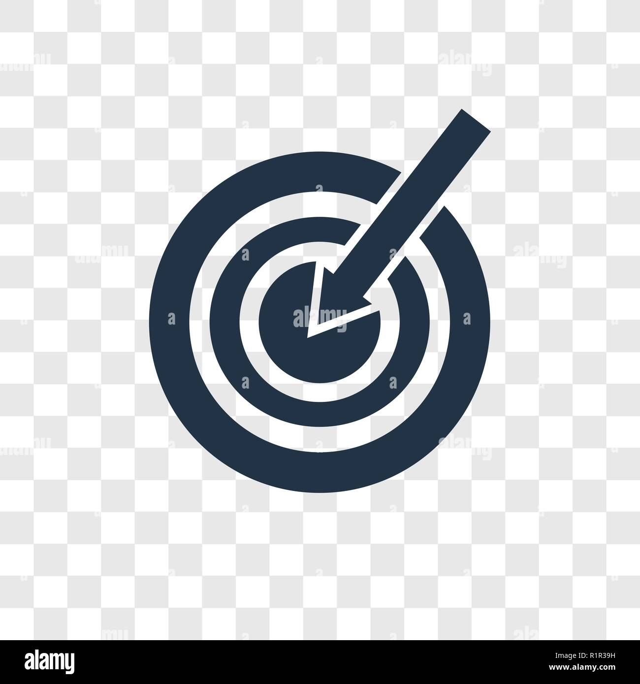 Target Vector Icon Isolated On Transparent Background