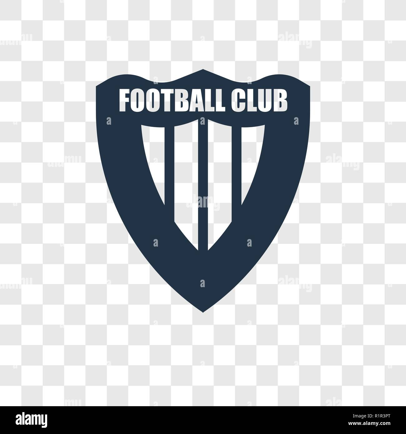 Football Club Vector Icon Isolated On Transparent Background