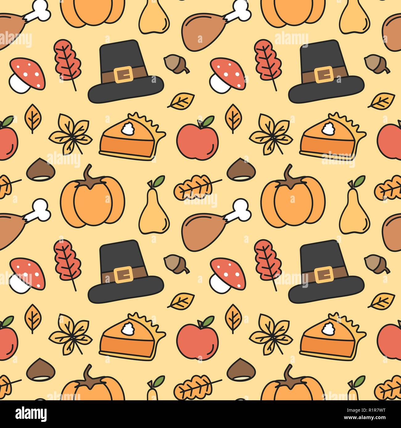 cute lovely holiday seamless vector pattern background ...