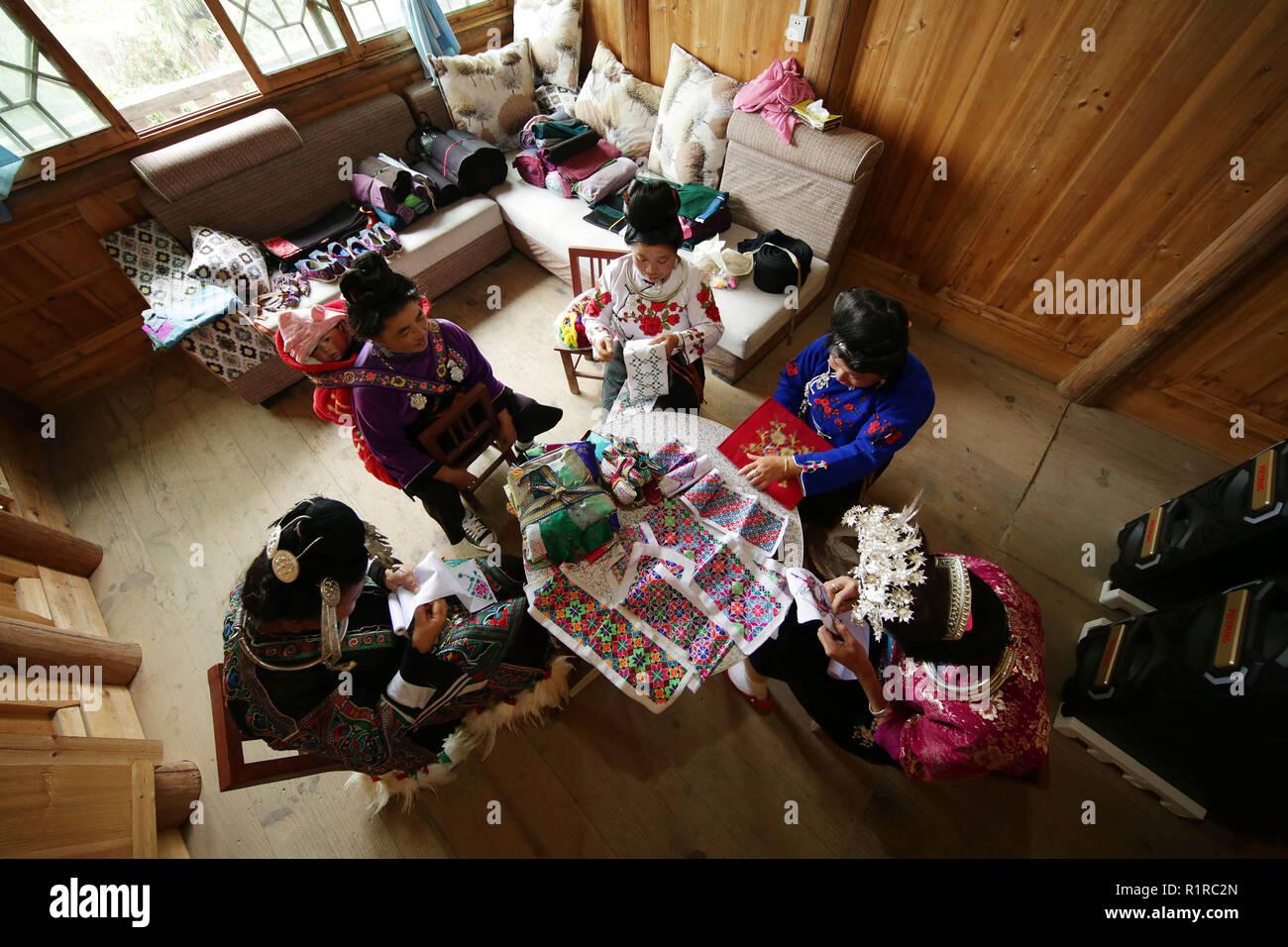 Qiandongnan China S Guizhou Province 13th Nov 2018 Local Women