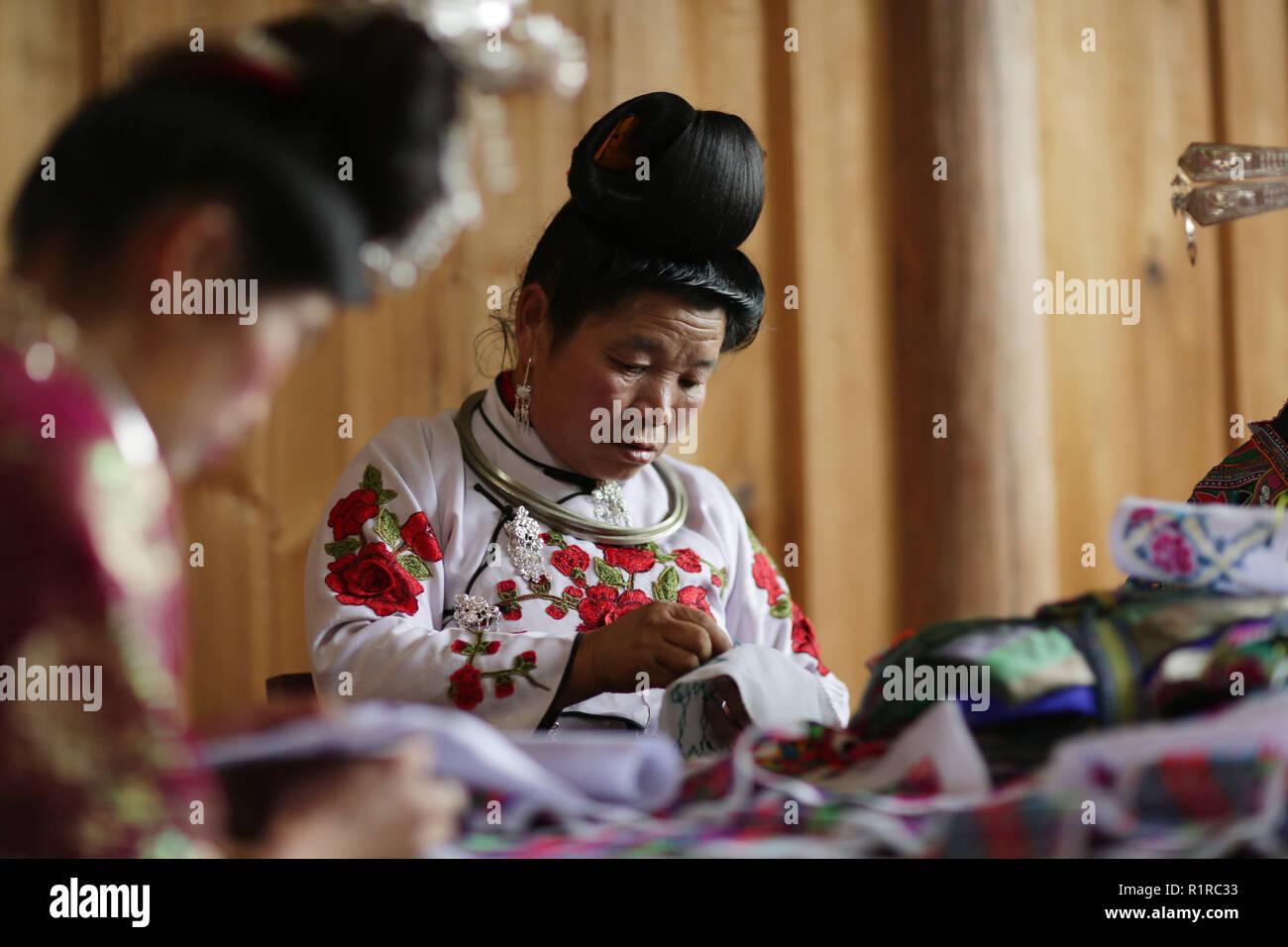 Qiandongnan China S Guizhou Province 13th Nov 2018 Villager Wei