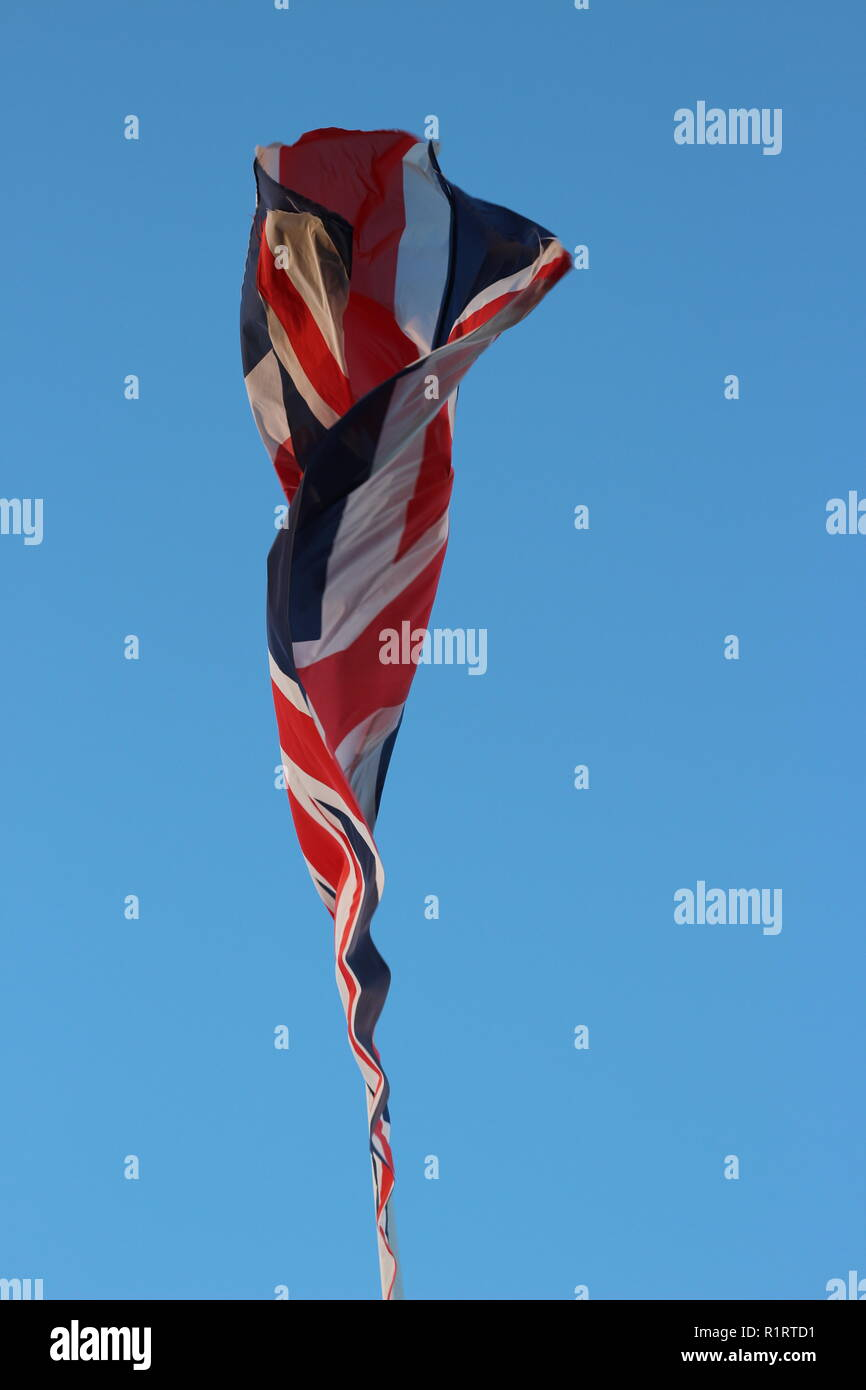 Disappearing Bexit Symbol. Union Flag - Stock Image