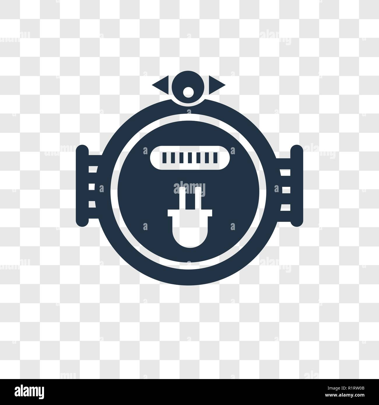 Meter vector icon isolated on transparent background, Meter transparency logo concept - Stock Image