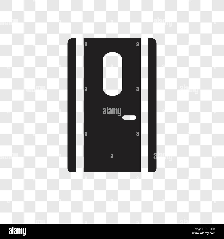 Door Vector Icon Isolated On Transparent Background Door