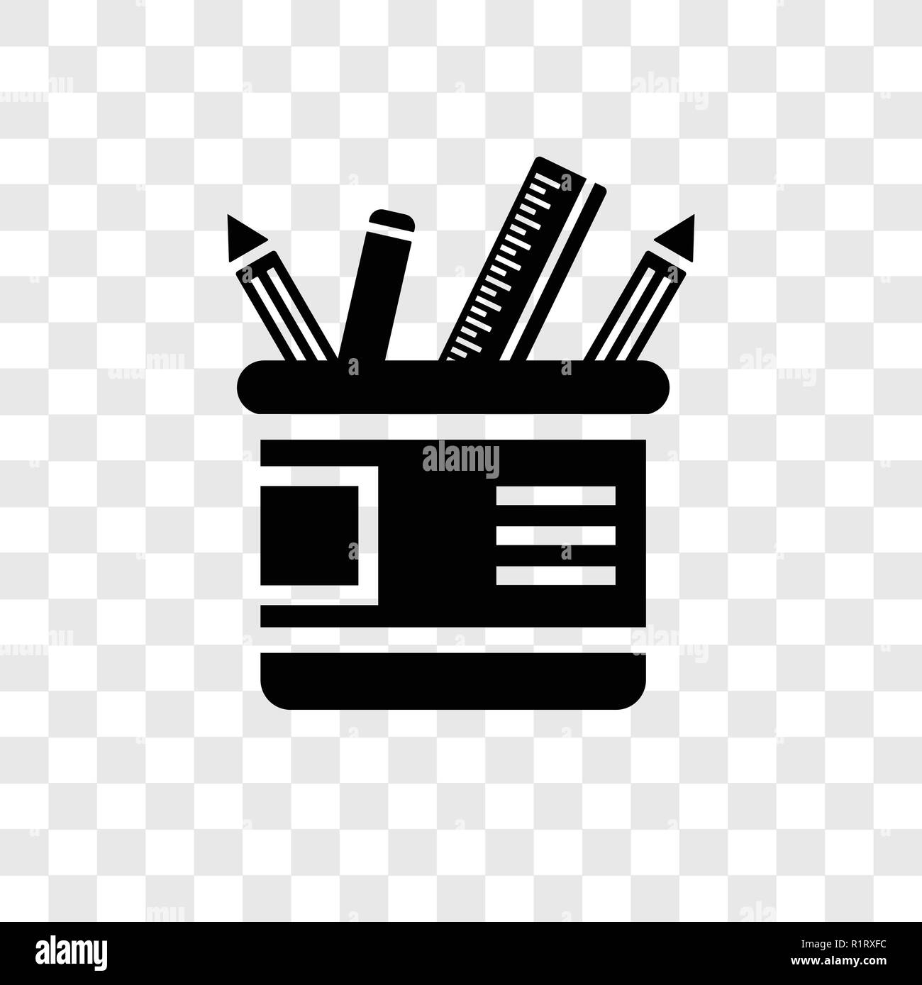 Pencil Box Transparent Stock Photos Circuit Board Letters Vector Colourbox Case Icon Isolated On Background Transparency Logo Concept