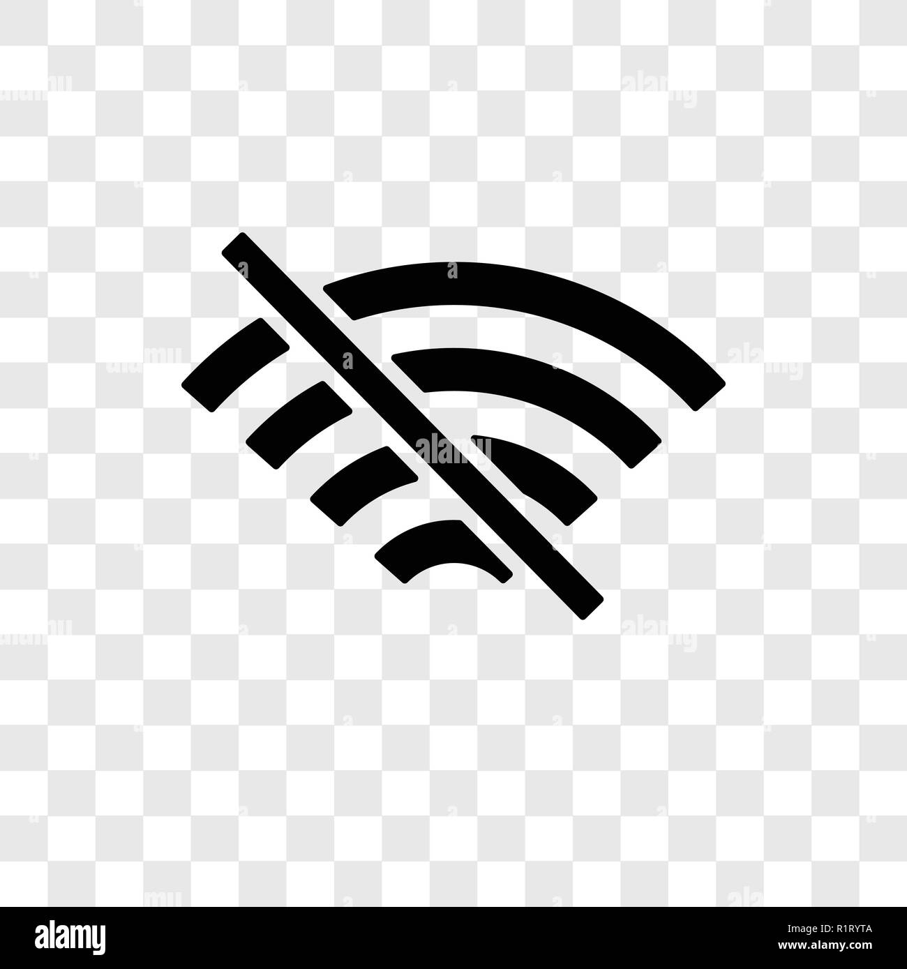 No Wifi Vector Icon Isolated On Transparent Background No Wifi