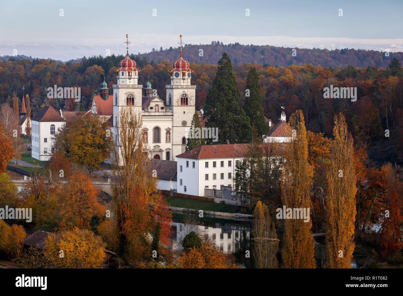 Benedictine Abbey in Rheinau, Canton of Zurich, Switzerland - Stock Image