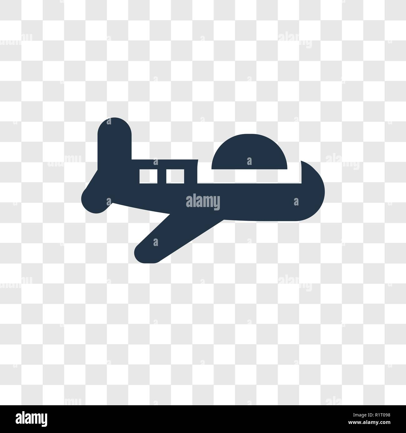 Plane Toy Vector Icon Isolated On Transparent Background Plane