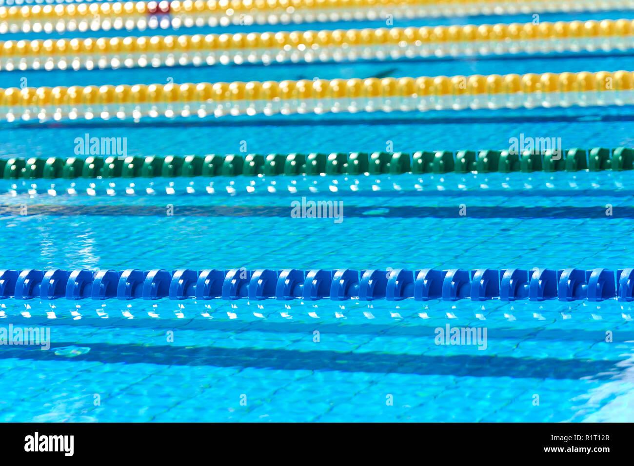Swimming pool - lane lines. Swimming pool lane marker ...