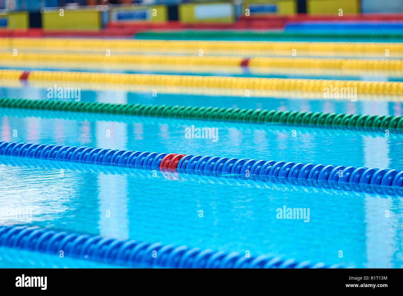 Swimming pool - lane lines. Swimming pool lane marker ...