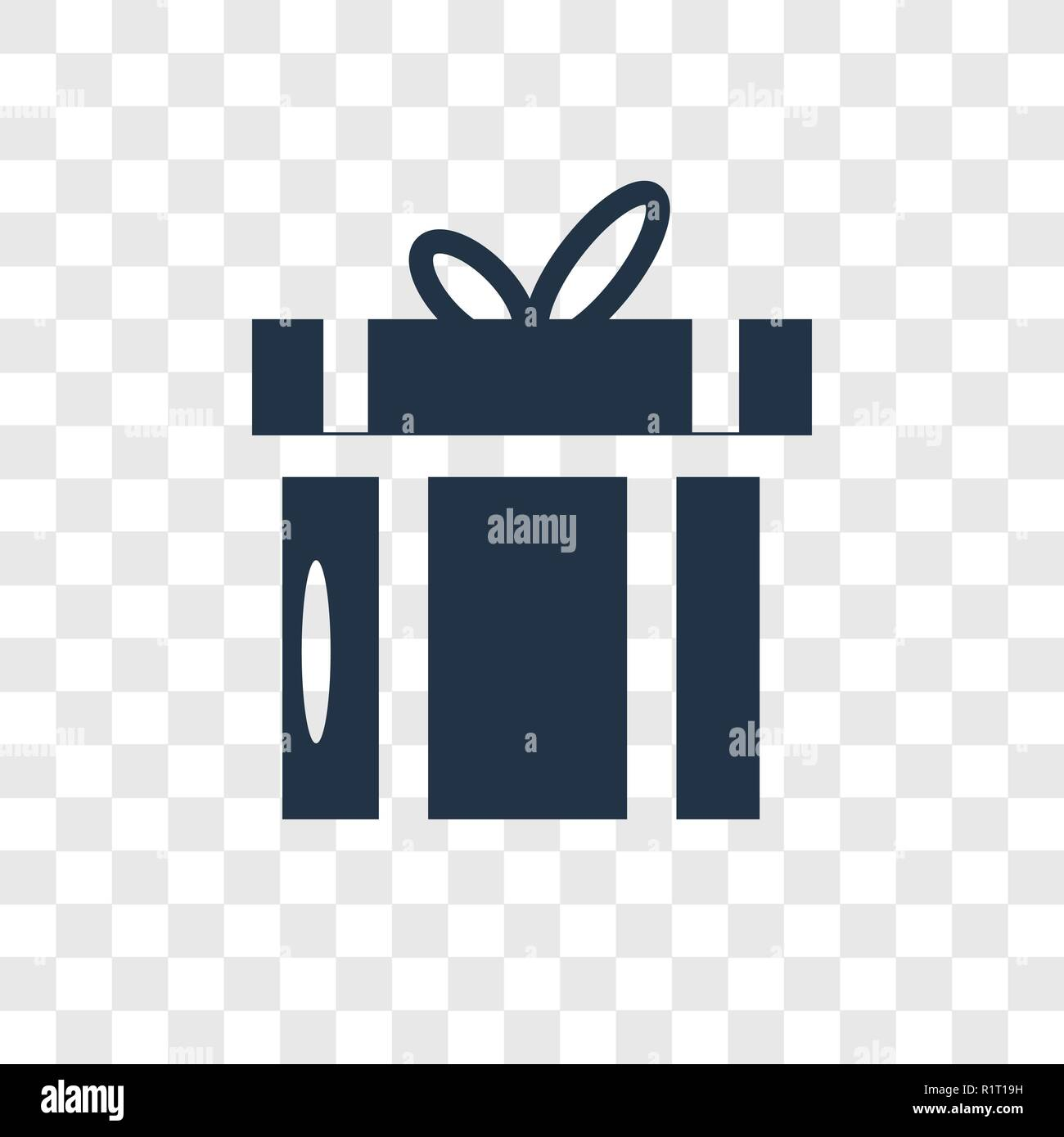 Giftbox Vector Icon Isolated On Transparent Background Giftbox Transparency Logo Concept Stock Vector Image Art Alamy