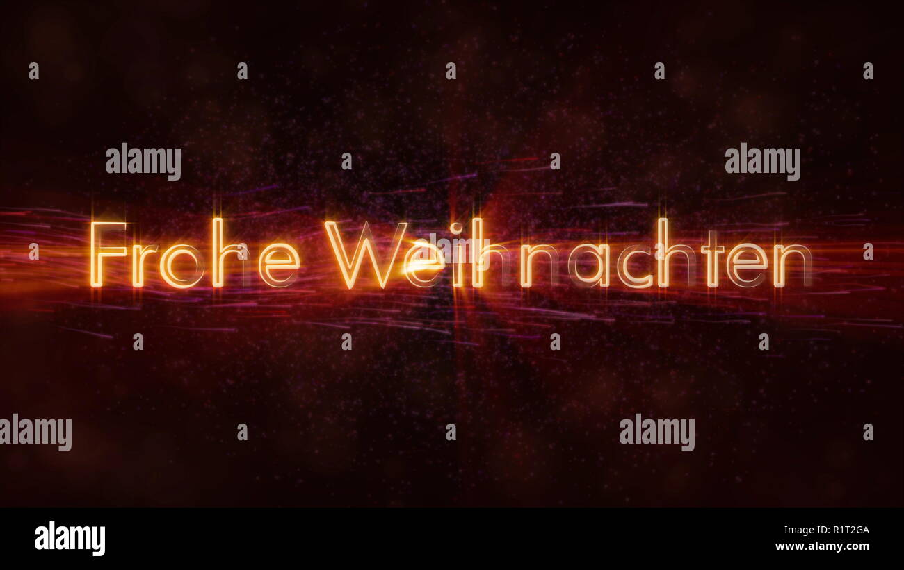 Animation Frohe Weihnachten.Merry Christmas Text In German Frohe Weihnachten Loop Animation