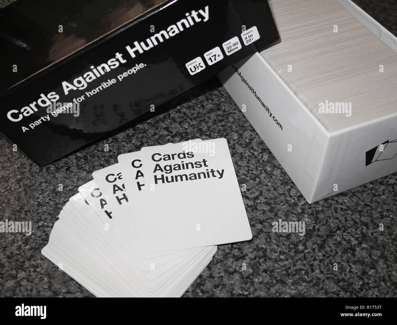 Cards Against Humanity adult card game - Stock Image