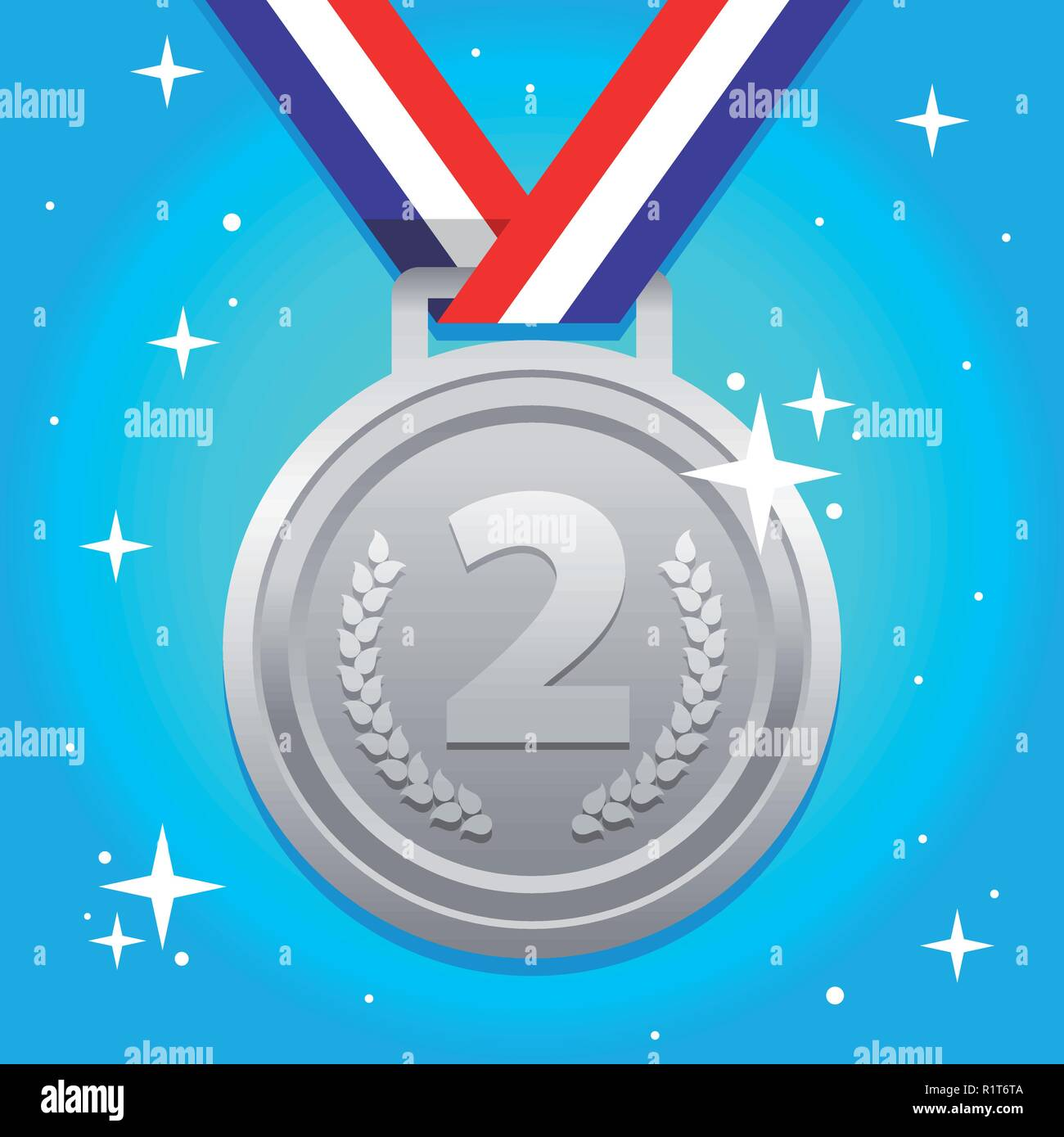 Second Place - Stock Vector