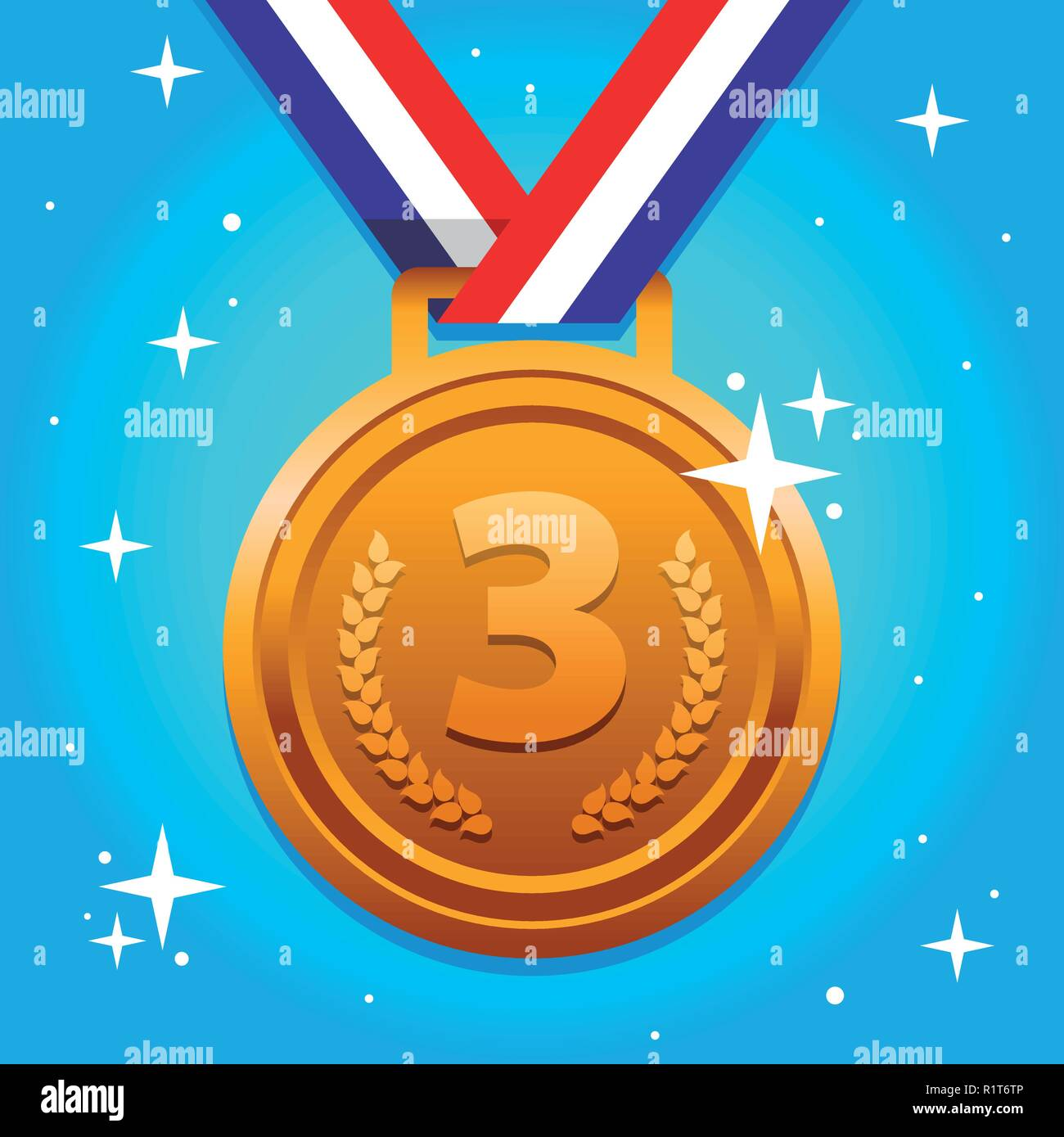 Third Place - Stock Vector