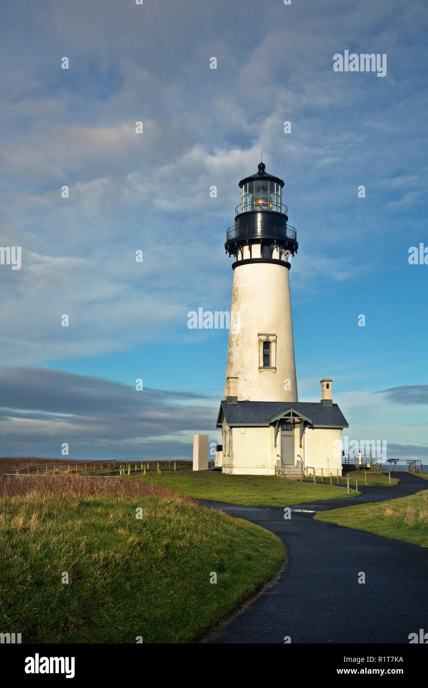 OR02388-00...OREGON - Yaquina Head Lighthouse in the Yaquina Head Outstanding Natural Area. Stock Photo