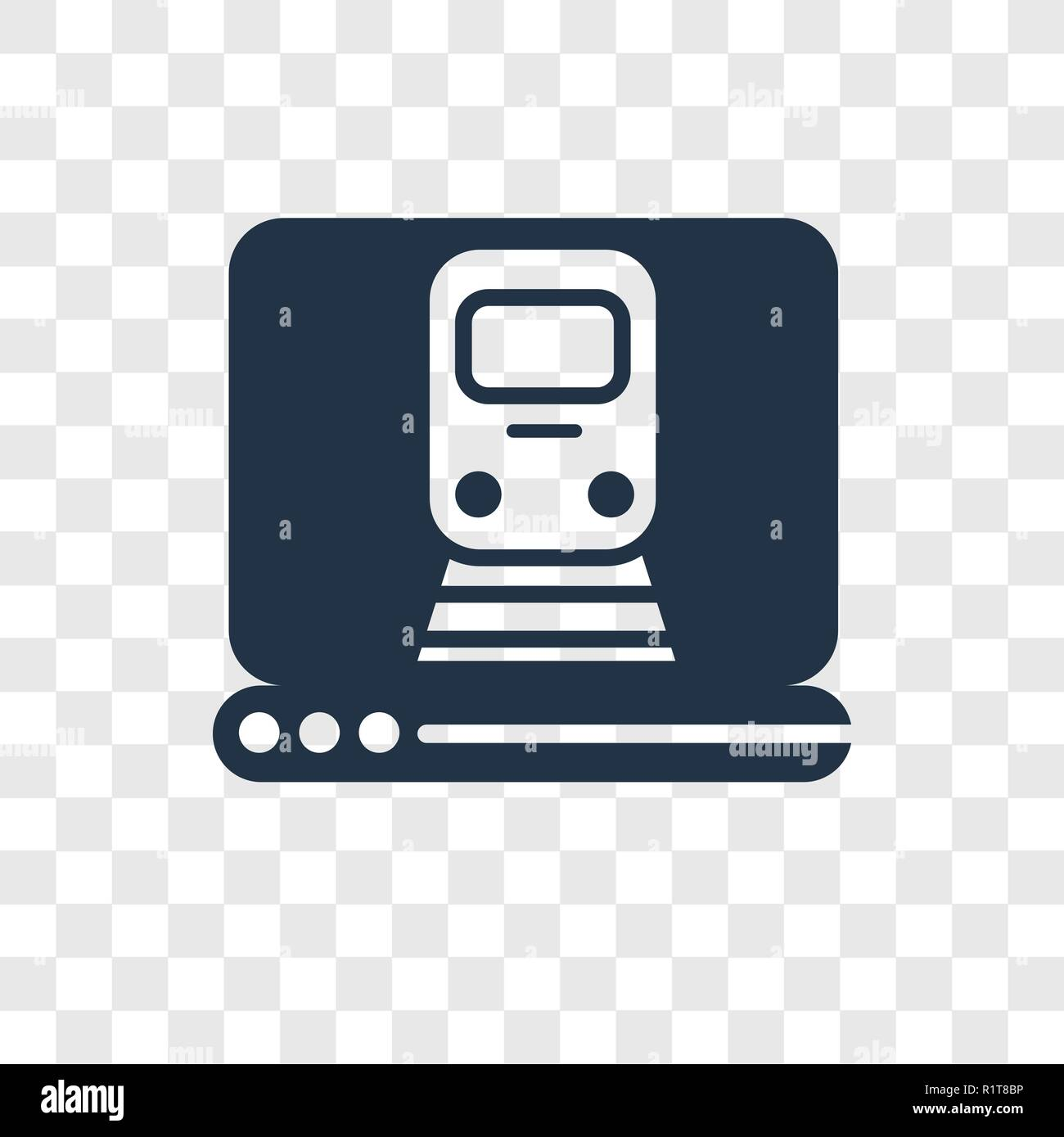 Online Booking Vector Icon Isolated On Transparent