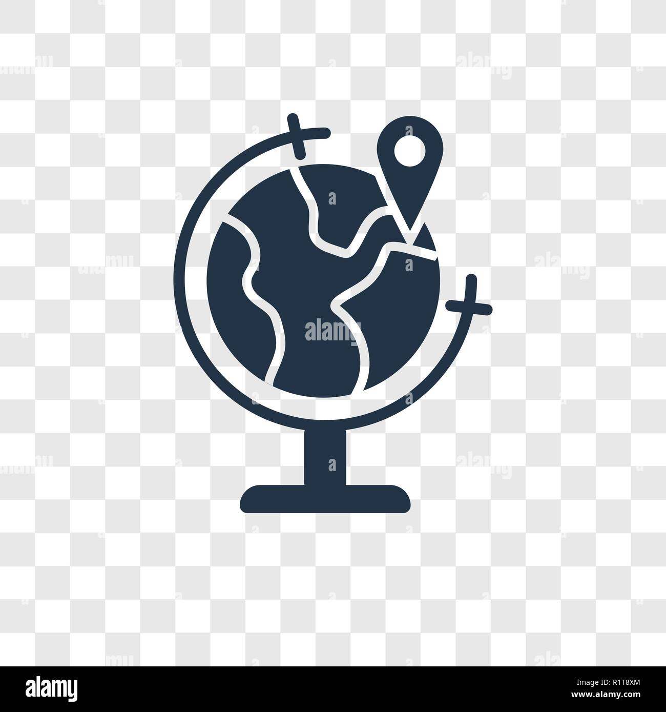 World vector icon isolated on transparent background, World