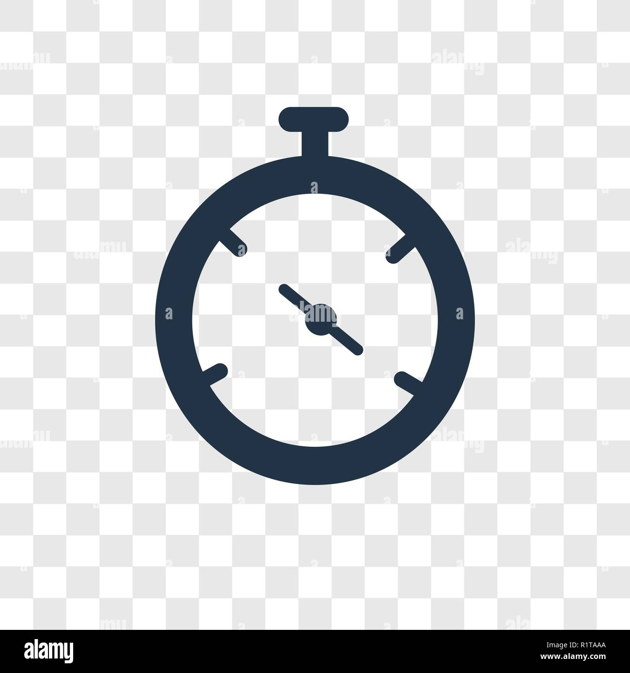 Stopclock vector icon isolated on transparent background