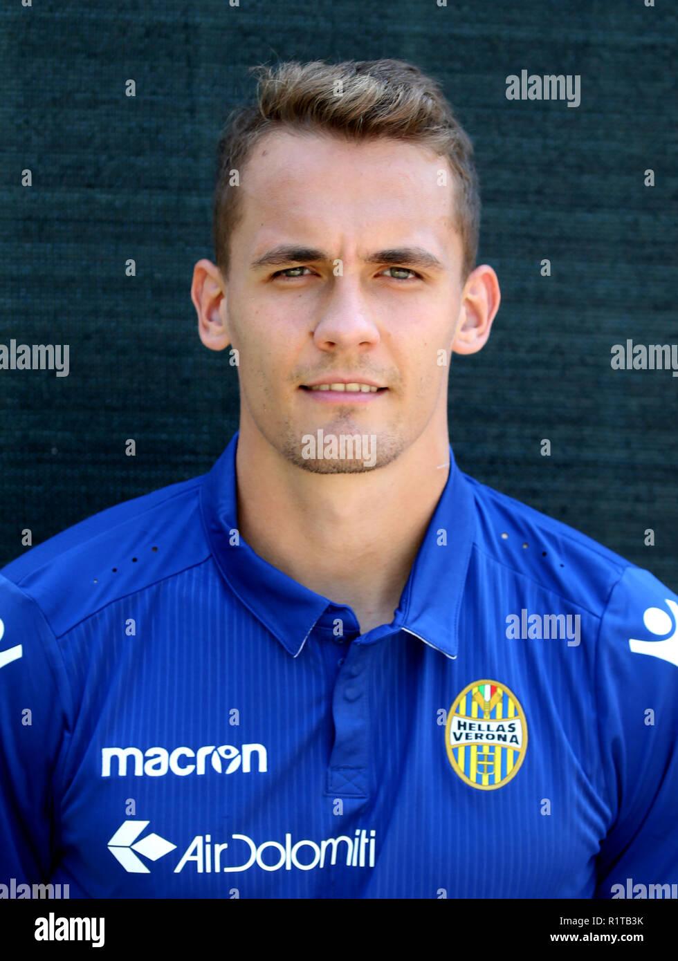 Italy - Serie B BKT 2018-2019 /  ( Hellas Verona F.C. ) -  Jure Balkovec - Stock Image