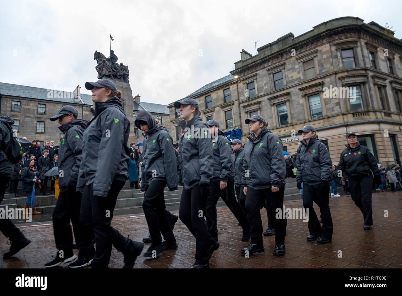 Remembrance Sunday November 11th 2018 Paisley 100th Anniversary Of The End Of WW1 Stock Photo