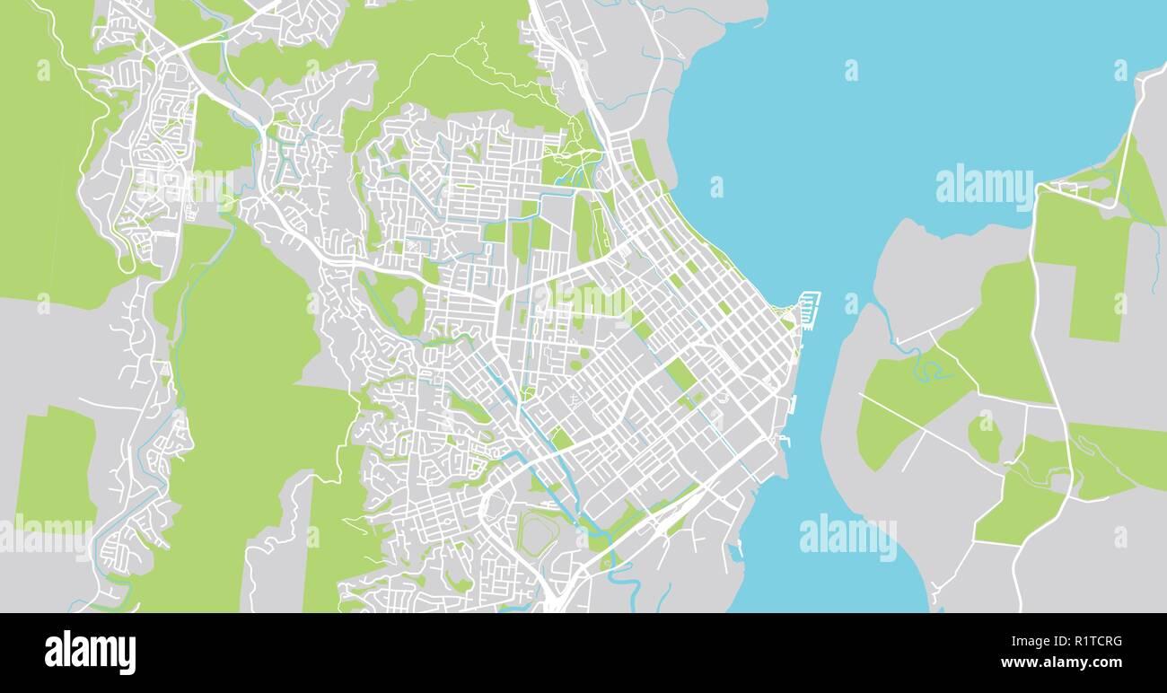 Urban Vector City Map Of Cairns Australia Stock Vector Art