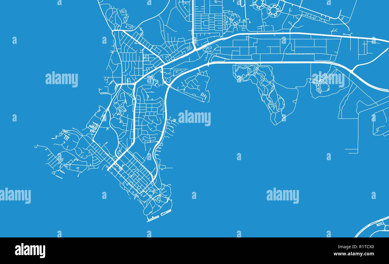 Darwin Map Of Australia.Urban Vector City Map Of Darwin Australia Stock Vector Art