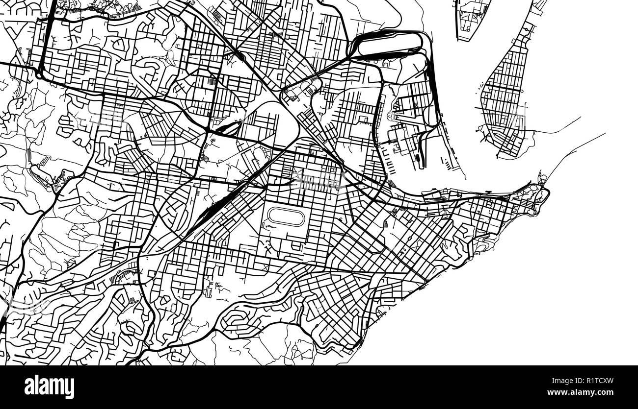 Australia Map Newcastle.Urban Vector City Map Of Newcastle Australia Stock Vector Art