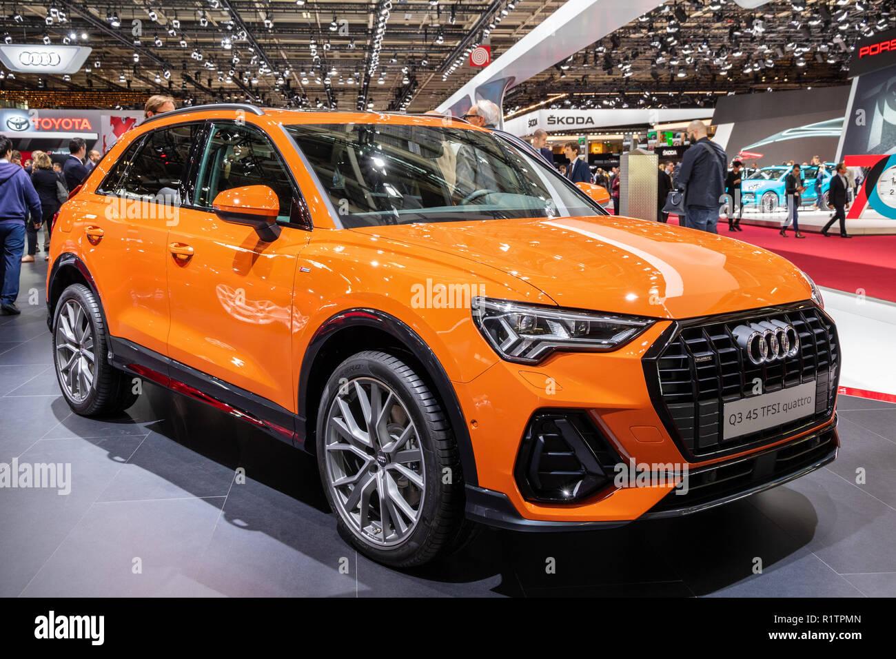 PARIS - OCT 3, 2018: Audi Q3 TFSI quattro car presented at