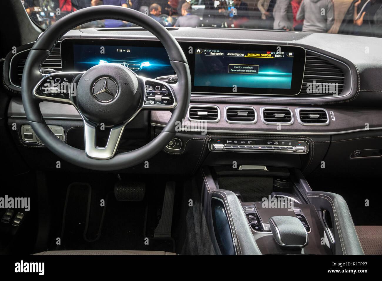 PARIS - OCT 3, 2018: New 2020 Mercedes GLE 300d 4MATIC car ...