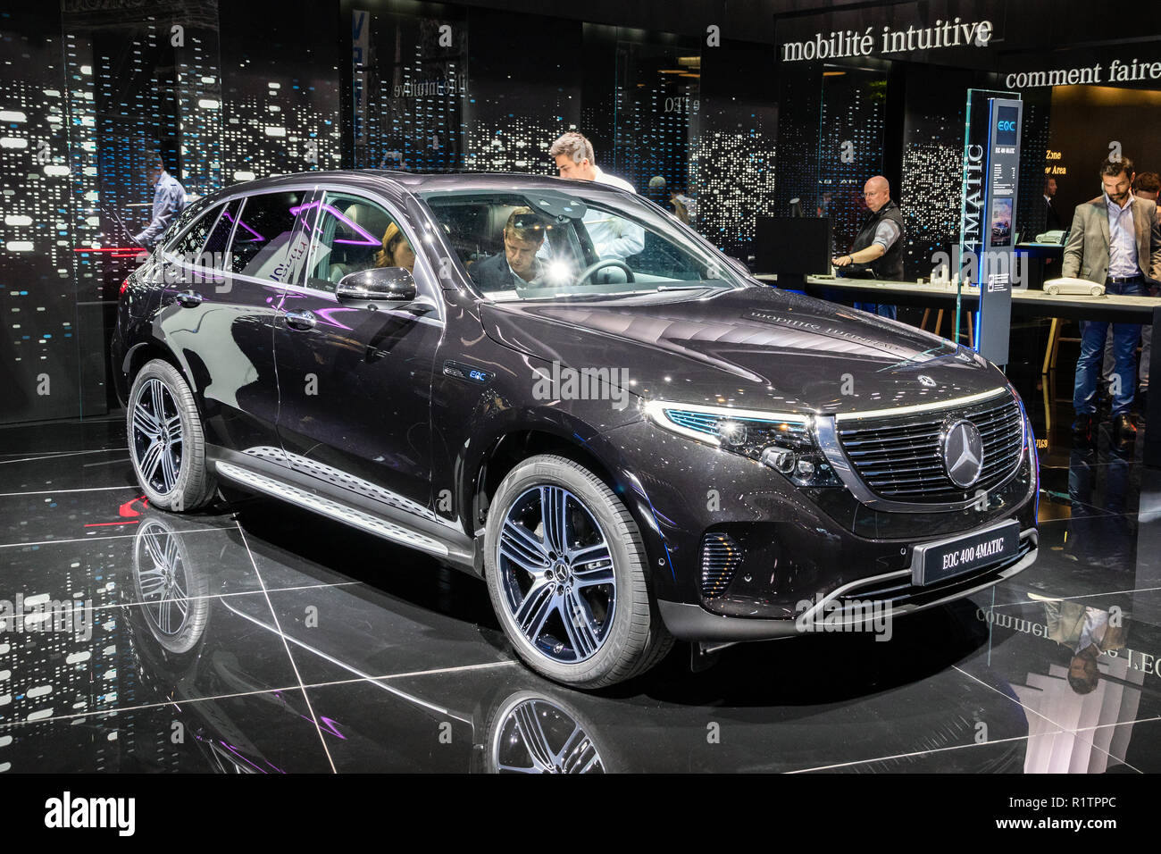 PARIS - OCT 3, 2018: Mercedes EQC 400 4MATIC electric suv ...