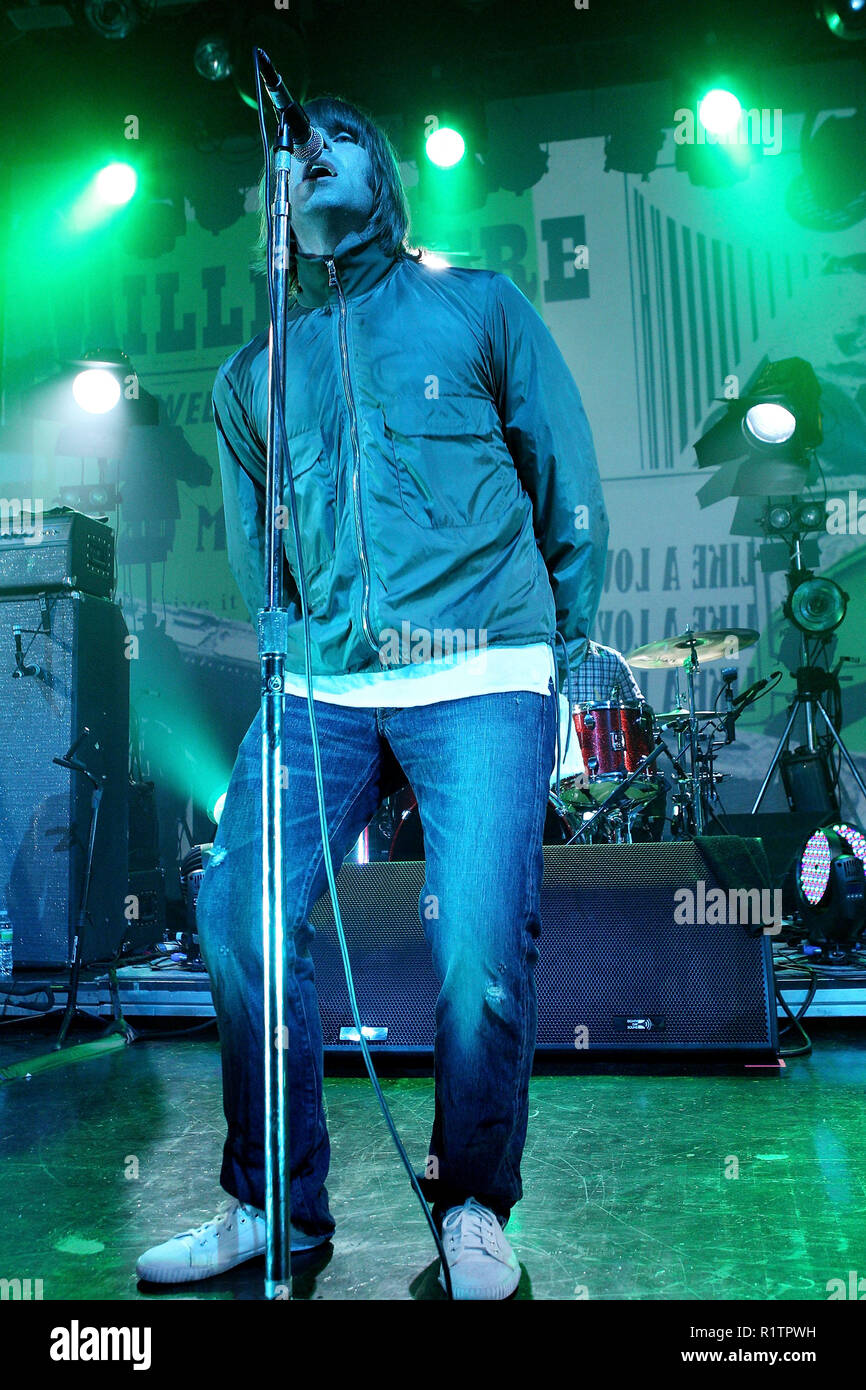 NEW YORK, NY - JUNE 23:  Liam Gallagher of Beady Eye performs at Webster Hall on June 23, 2011 in New York City.  (Photo by Steve Mack/S.D. Mack Pictures) - Stock Image
