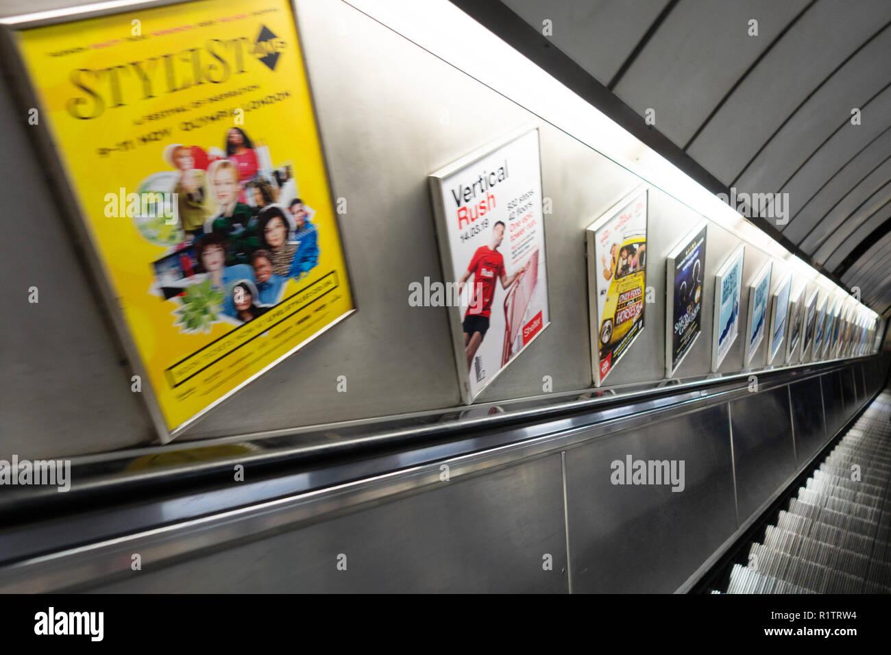 Escalator Ad Underground Stock Photos Escalator Ad Underground