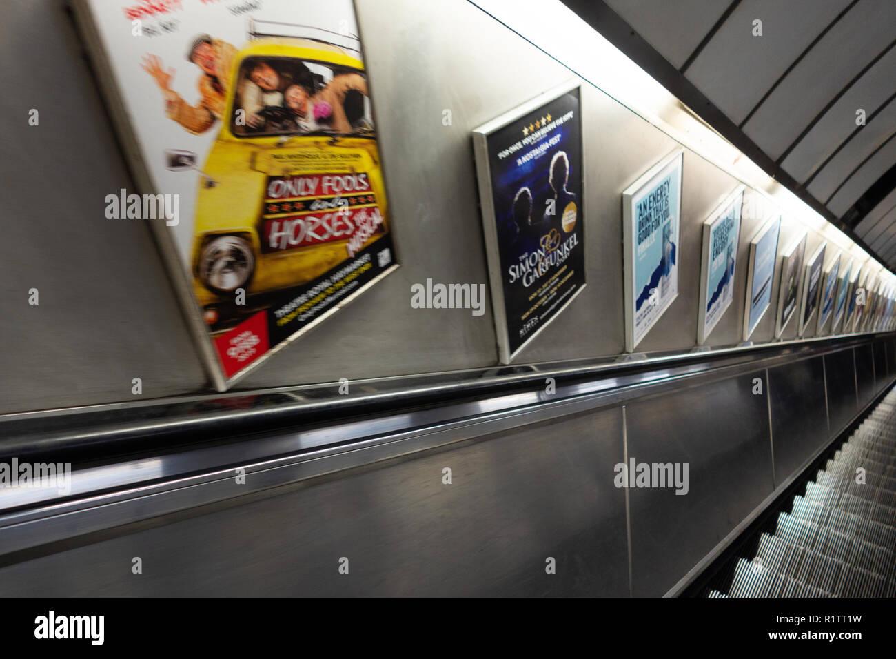 Escalator Advertising Stock Photos Escalator Advertising Stock