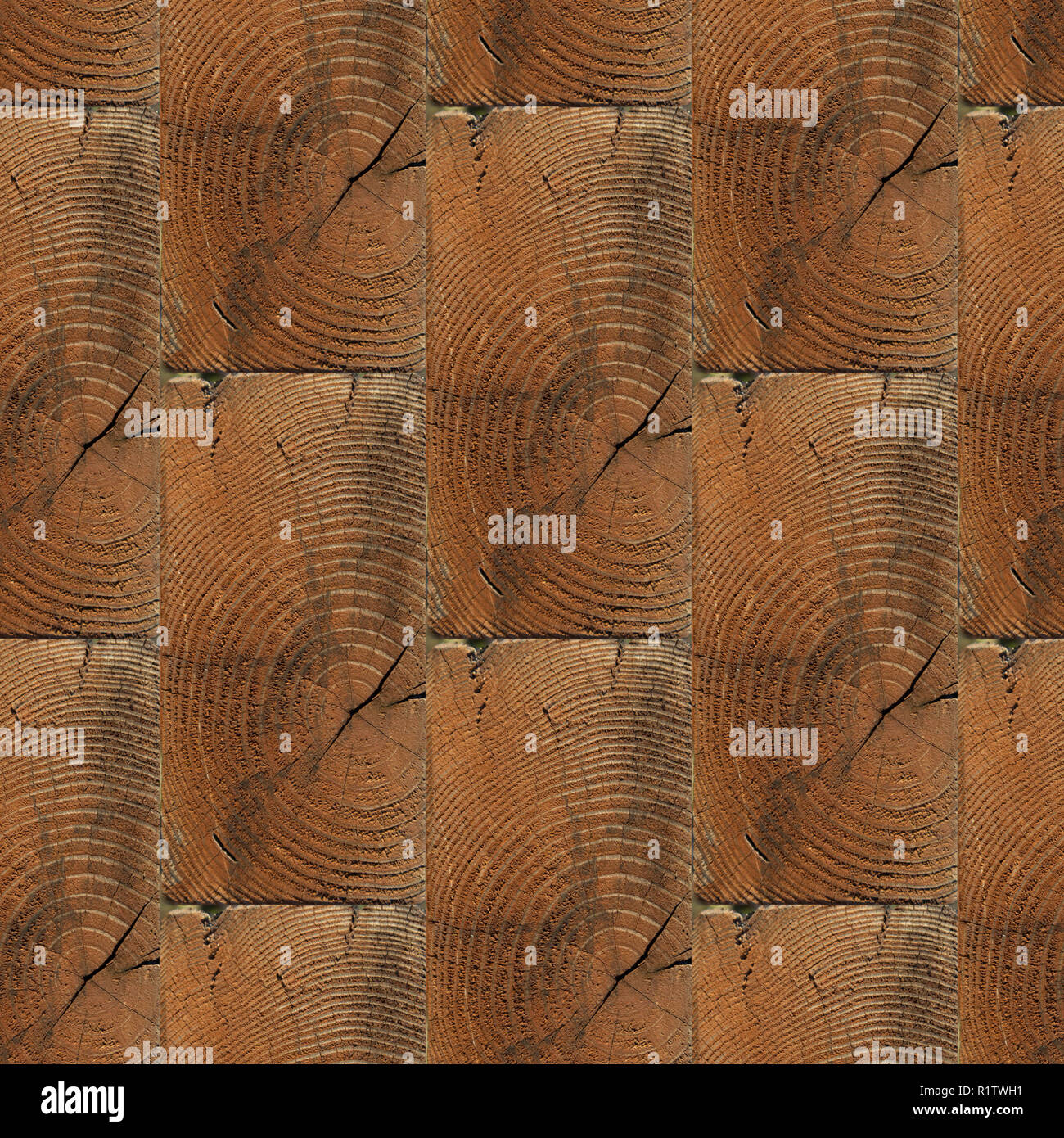 Abstract seamless pattern for designers of wooden bricks wall with