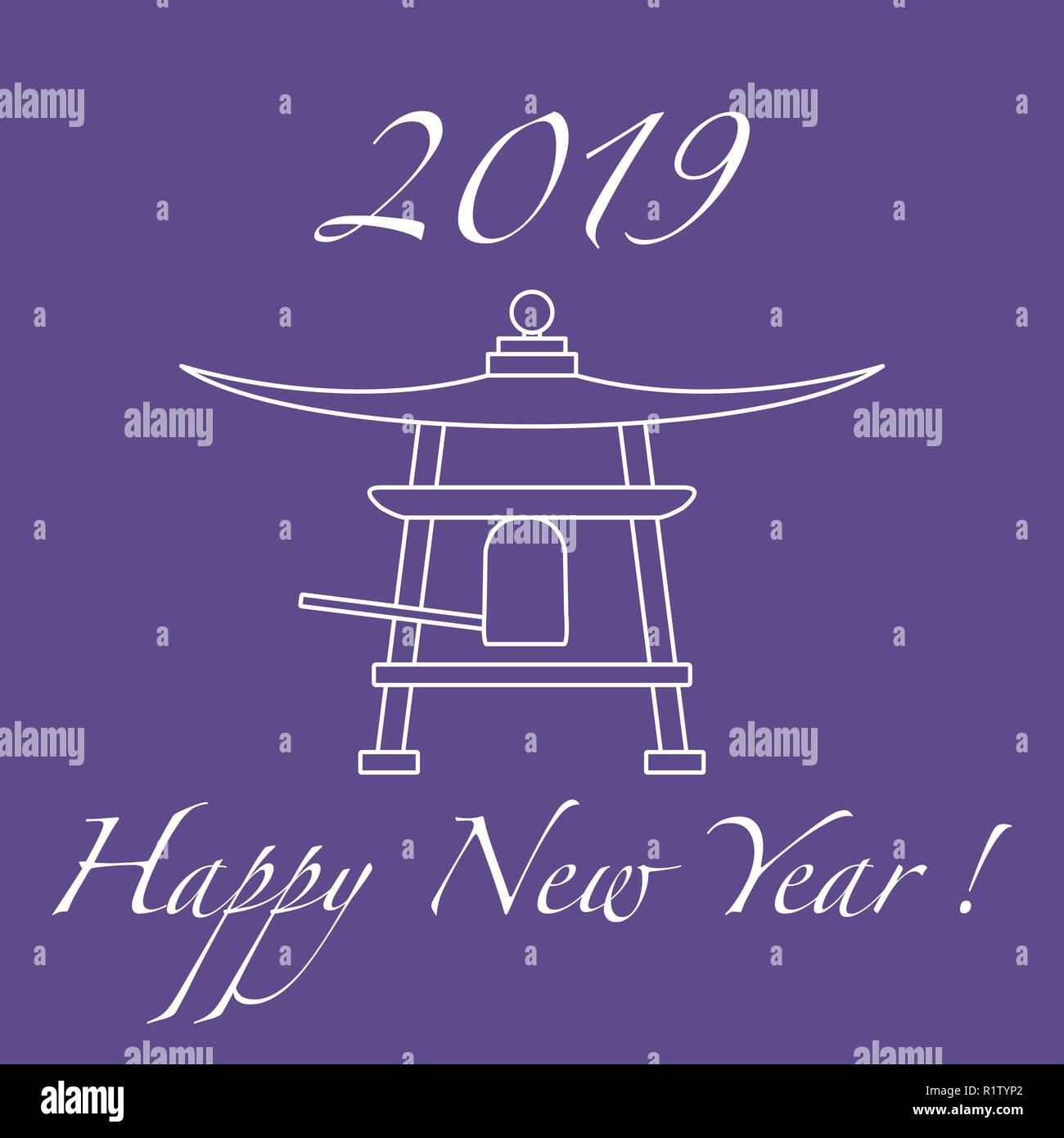 happy new year 2019 card new year symbol in japan bell festive traditions of different countries