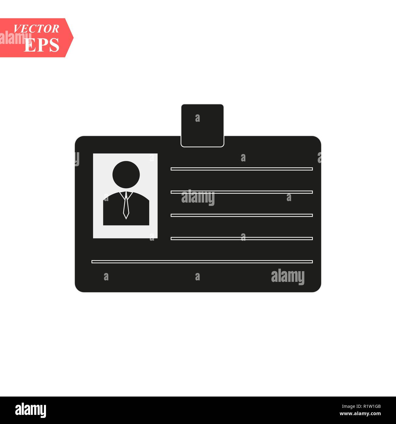 id cards icon - vector name tag - identity badge symbol eps10 - Stock Image