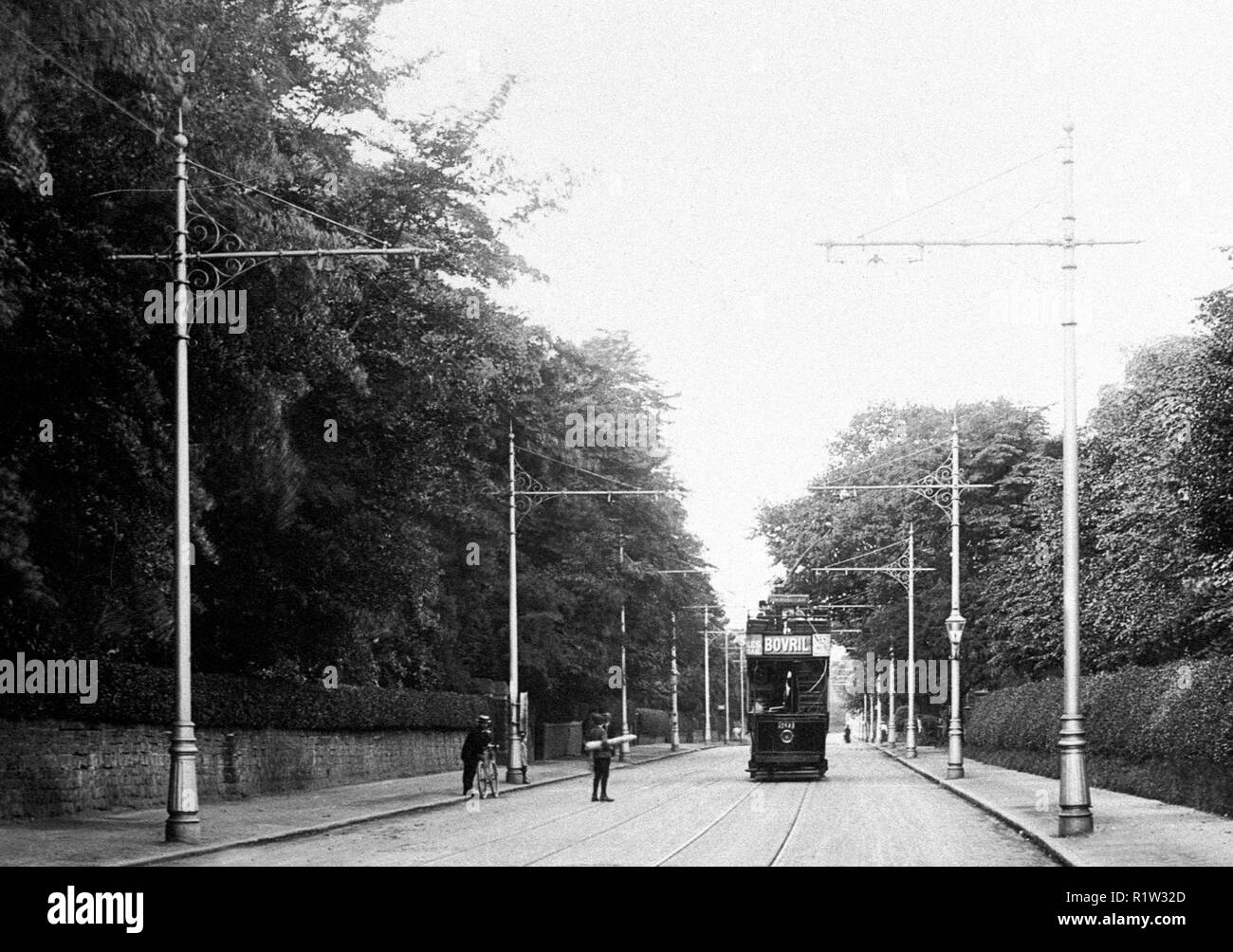 Sutton Road, Erdington Birmingham early 1900's - Stock Image