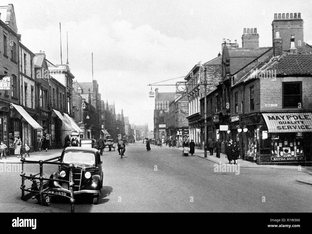 Saville Street, North Shields 1920's - Stock Image